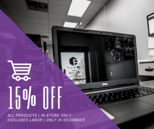 15% off all your in-store purchases