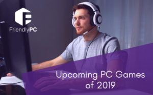 Man playing video games on PC